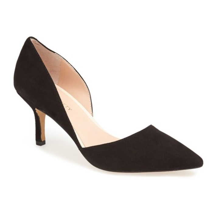 Best Black Suede Winter Pumps - Sole Society Jenn D'Orsay Pump