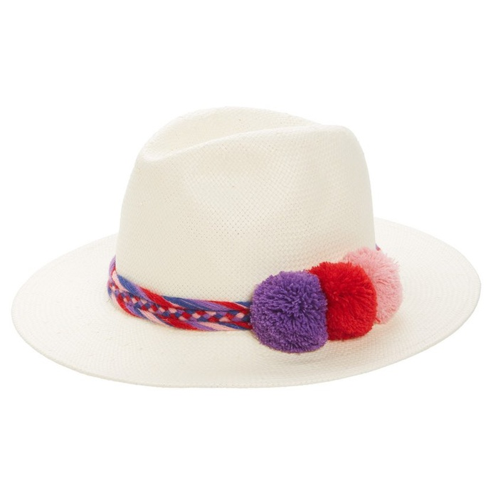 Best Straw Hats - Sole Society Pompom Straw Panama Hat