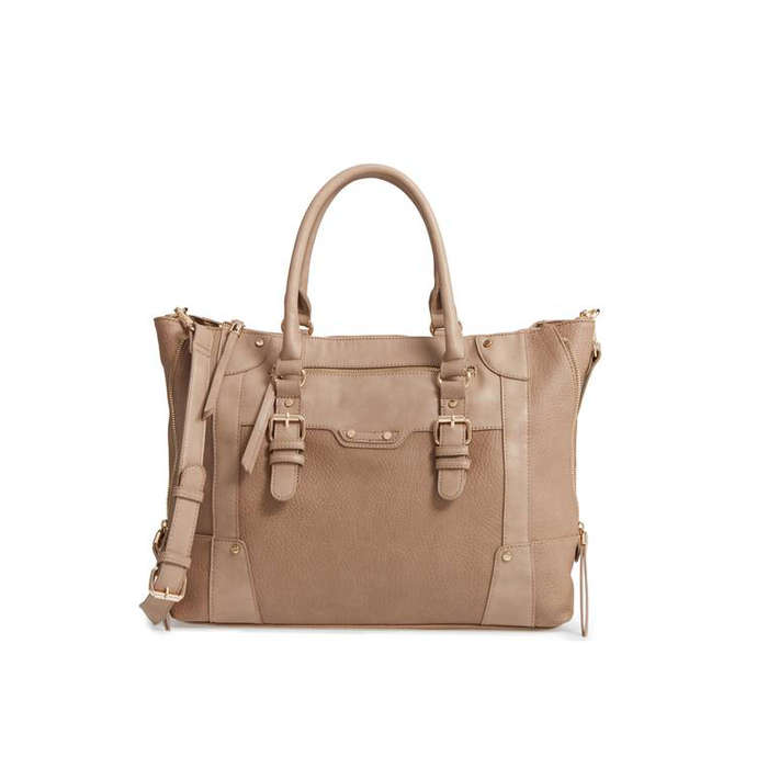 Best Embellished Handbags - Sole Society Susan Winged Faux Leather Tote