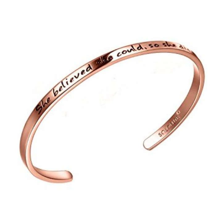 Best Gifts Under $50 on Amazon - Solocute Engraved Bangle