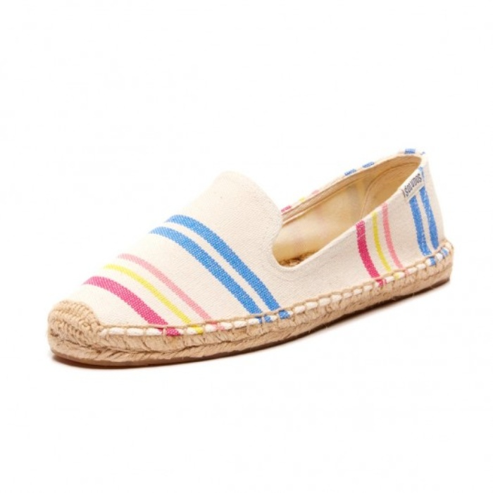 Best Espadrilles for Summer - Soludos Candy Stripe Slipper Espadrilles