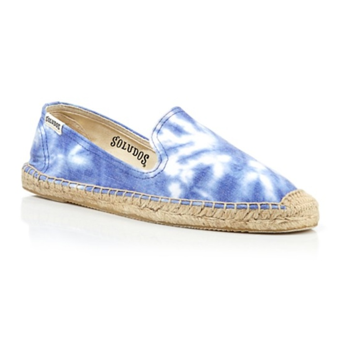 Best The Ten Best in Tie-Dye Fashion - Soludos Espadrille Smoking Tie Dye Flats