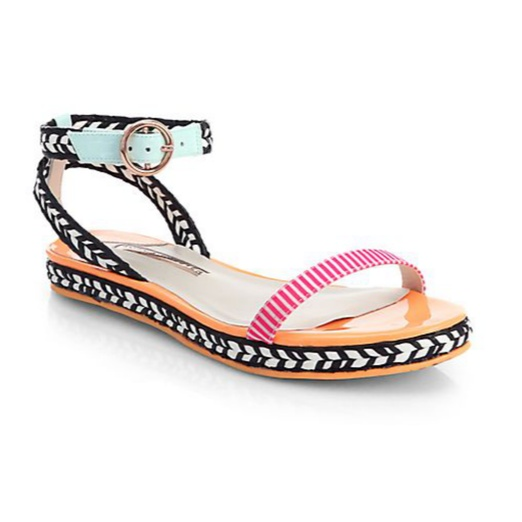 Best Ten Tribal Themed Bests - Sophia Webster Bea Mixed Media Sandals