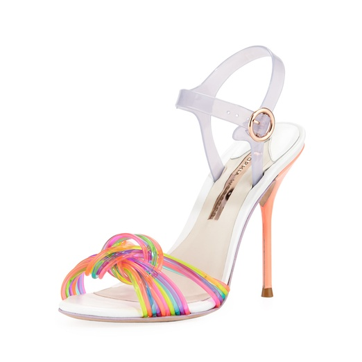 Best Pastel Shoes - Sophia Webster Coralie Ankle-Wrap Jelly Sandal