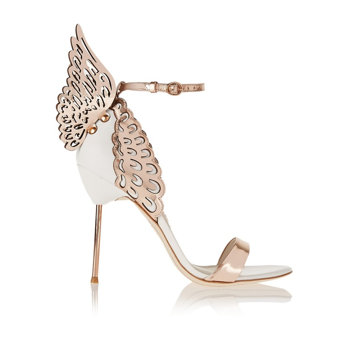 Best Wedding Heels - Sophia Webster Evangeline Metallic and Patent-Leather Sandals