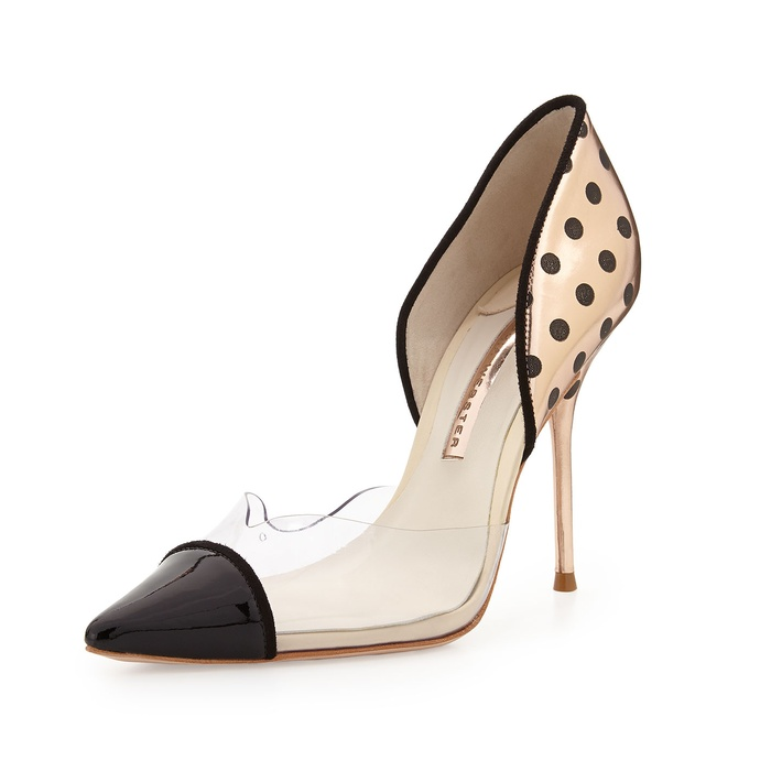 Best Pumps To Splurge On This Fall - Sophia Webster Jessica Dotted Mixed-Media Pump