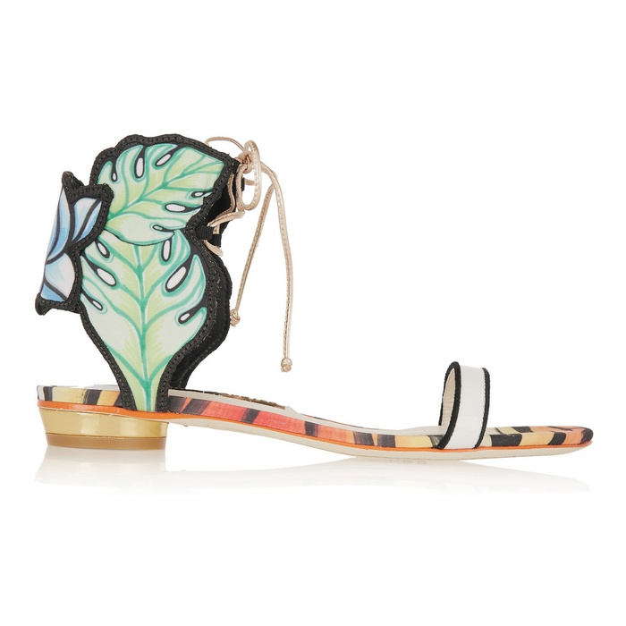 Best Winter Beach Break Shoes - Sophia Webster Rousseau Jungle Printed Satin and Leather Sandals