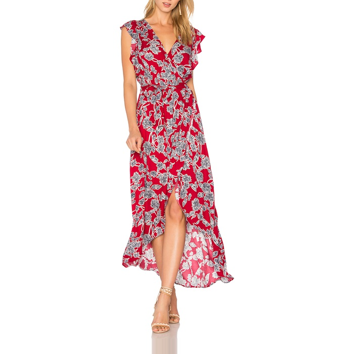 Best Floral Maxi Dresses - Splendid Etched Floral Wrap Dress