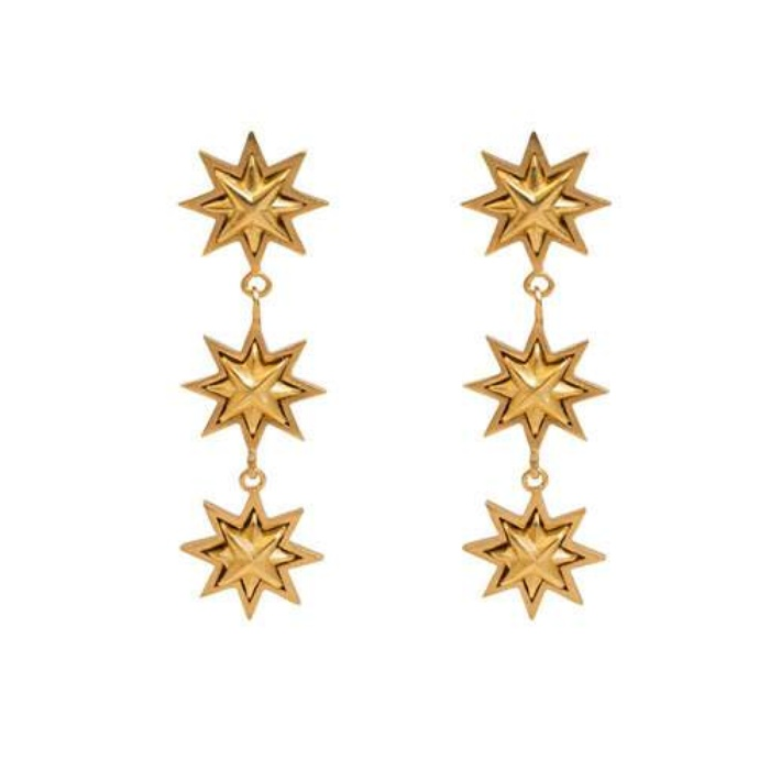 Best Fall Accessories - Stephanie Kantis Triple Starburst Drop Earrings