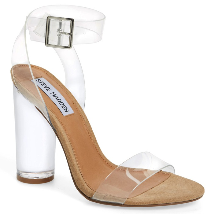 Best Lucite Shoes - Steve Madden Clearer Column Heel Sandal