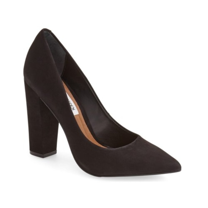 Best Black Pumps Under $100 - Steve Madden Primpy Pointy Toe Block Heel Pump