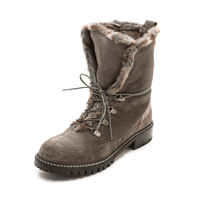 Best Snow Boots to Gift - Stuart Weitzman Bobsled Faux Fur Suede Hiking Boots