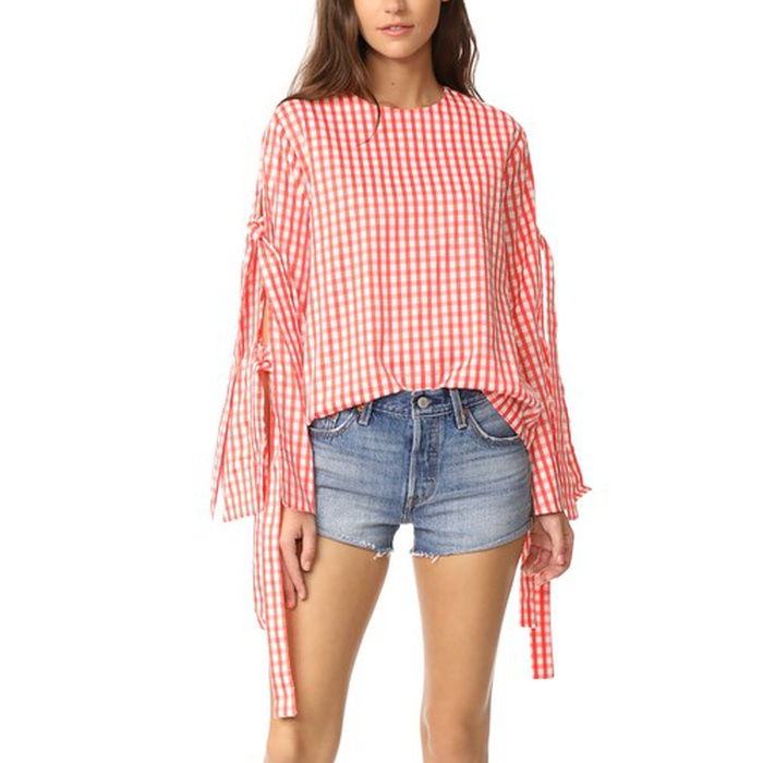 Best Gingham Tops - Style Mafia Gingham Blouse