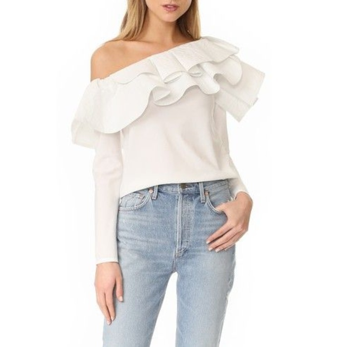Best Ruffle Tops - Stylekeepers Ruffle One Shoulder Top