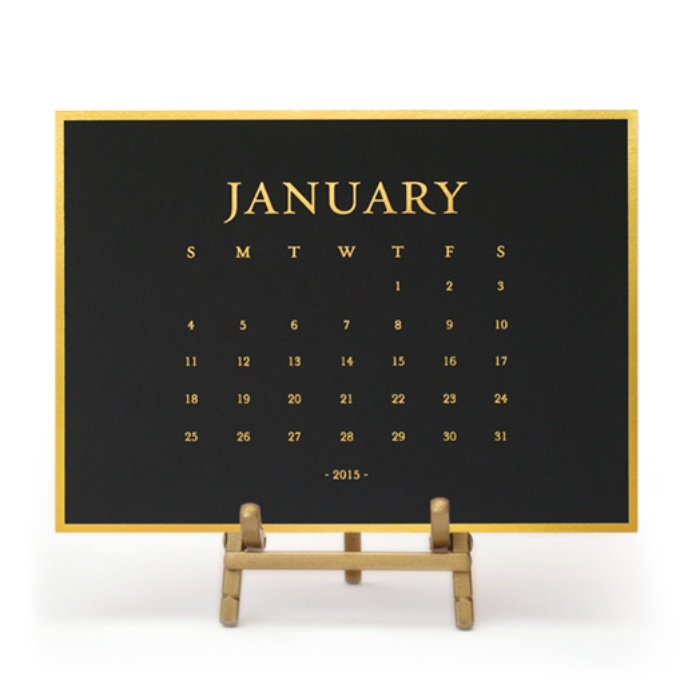 Best For the Career Women - Sugar Paper 2015 Classic Desk Calendar