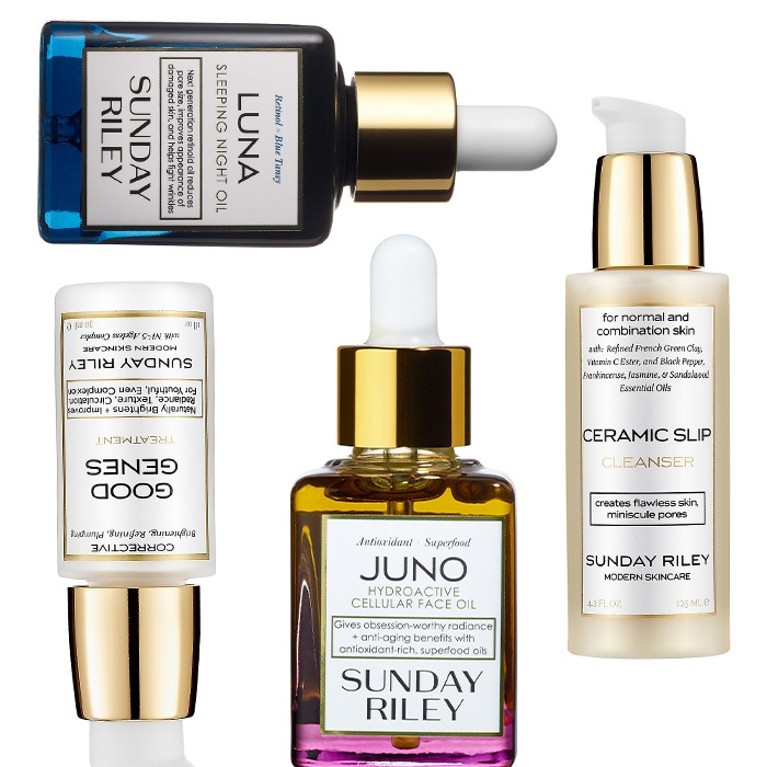 Best Ten ways to treat your Valentine - Sunday Riley Good Genes Treatment, Luna Sleeping Night Oil, Juno Hydroactive Cellular Face Oil, Ceramic Slip Cleanser