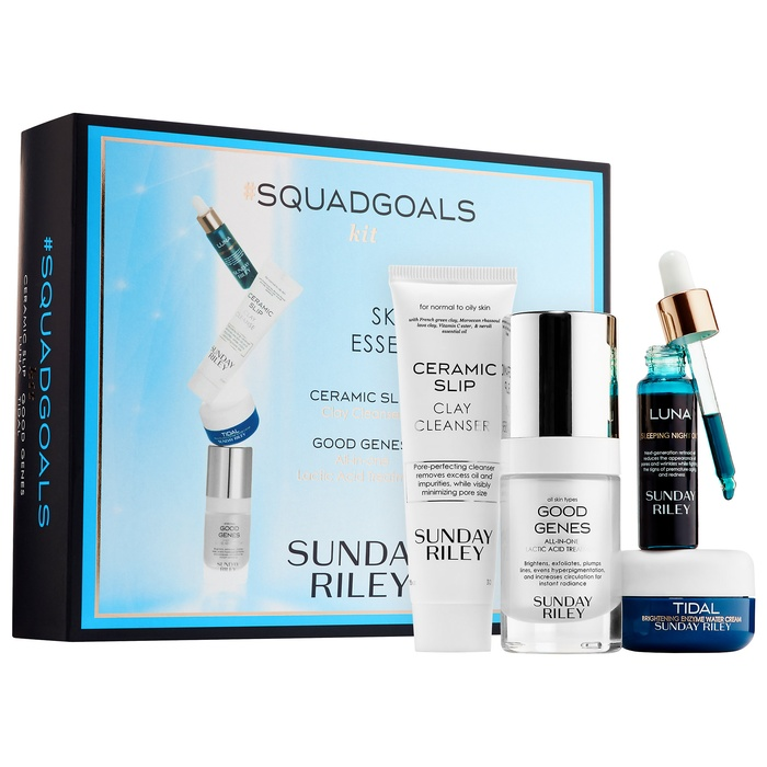 Best Luxury Beauty Gift Sets - Sunday Riley #SquadGoals Skincare Essentials Kit