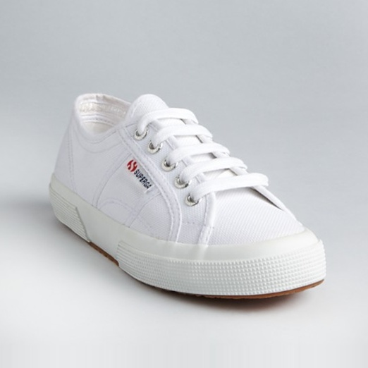 Best Stylish White Sneakers - Superga Classic Canvas Sneakers