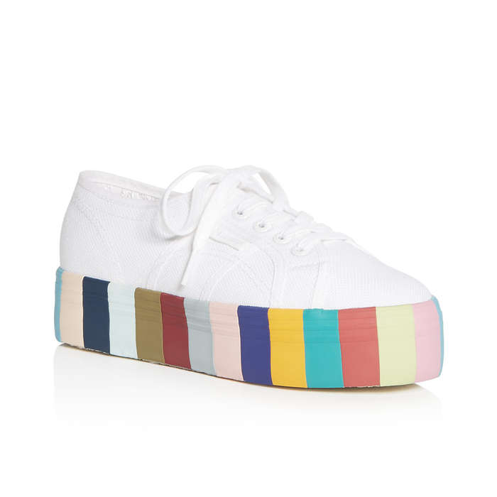 Best Rainbow Fashion Pieces - Superga Lace Up Rainbow Platform Sneakers