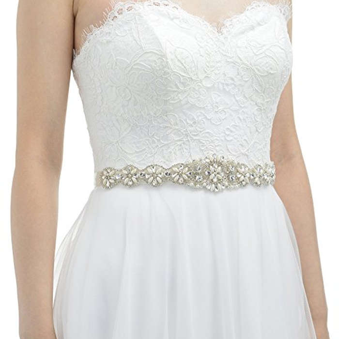 Best Bridal Belts - Sweet & V Rhinestone Wedding Belt