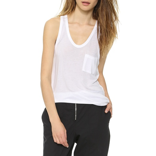 Best Solid Colored Tanks - T by Alexander Wang Classic Tank with Pocket