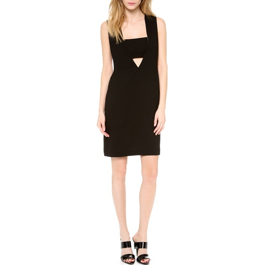 Best Spring LBDs - T by Alexander Wang Low V Dress with Bandeau