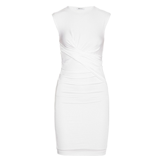 Best White Dresses - T By Alexander Wang Ruched Mesh-Jersey Dress