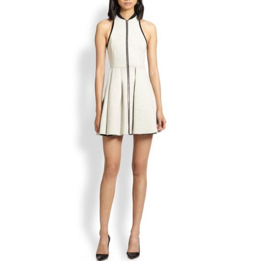 Best Summer White Bests - T by Alexander Wang Zip-Front Neoprene Dress
