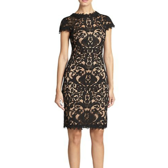 Best Lace Dresses - Tadashi Shoji Cord Embroidered Lace Cocktail Dress