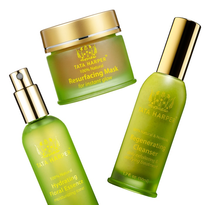 Best Ten ways to treat your Valentine - Tata Harper Resurfacing Mask, Regenerating Cleanser and Hydrating Floral Essence