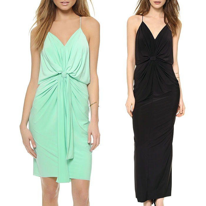 Best Dresses Under $250 for Summer Weddings - TBags Los Angeles Knee Length Dress & Maxi Dress with Knot Detail