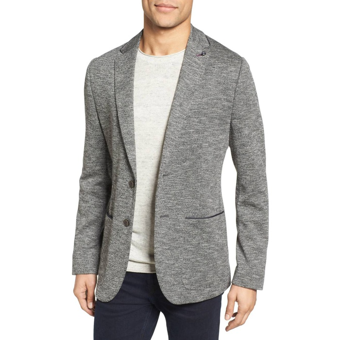Best Men's Casual Blazers and Sports Coats - Ted Baker London Italy Modern Slim Fit Textured Jersey Blazer