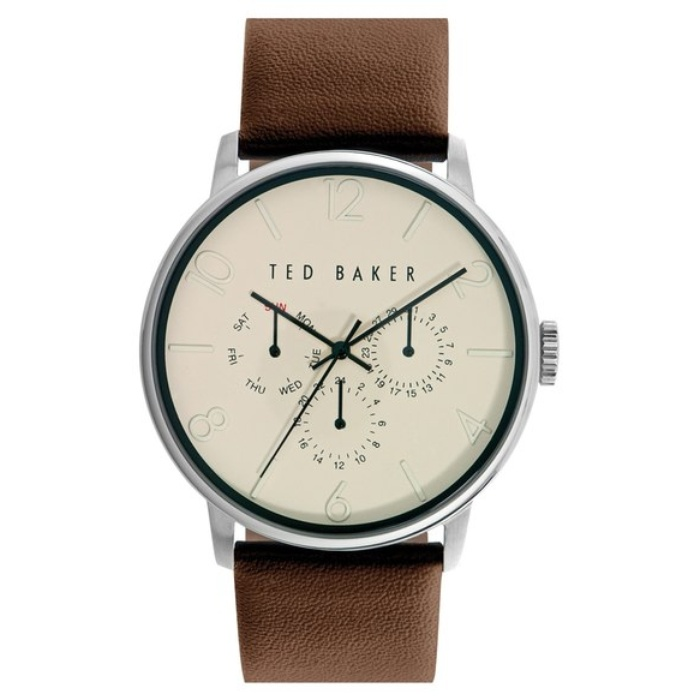 Best 10 Trending Gifts for The Guy With Style - Ted Baker London Multifunction Leather Strap Watch, 42mm