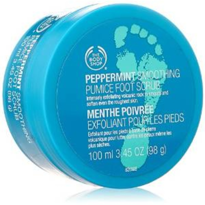 Best At Home Pedicure Essentials - The Body Shop Peppermint Smoothing Pumice Foot Scrub