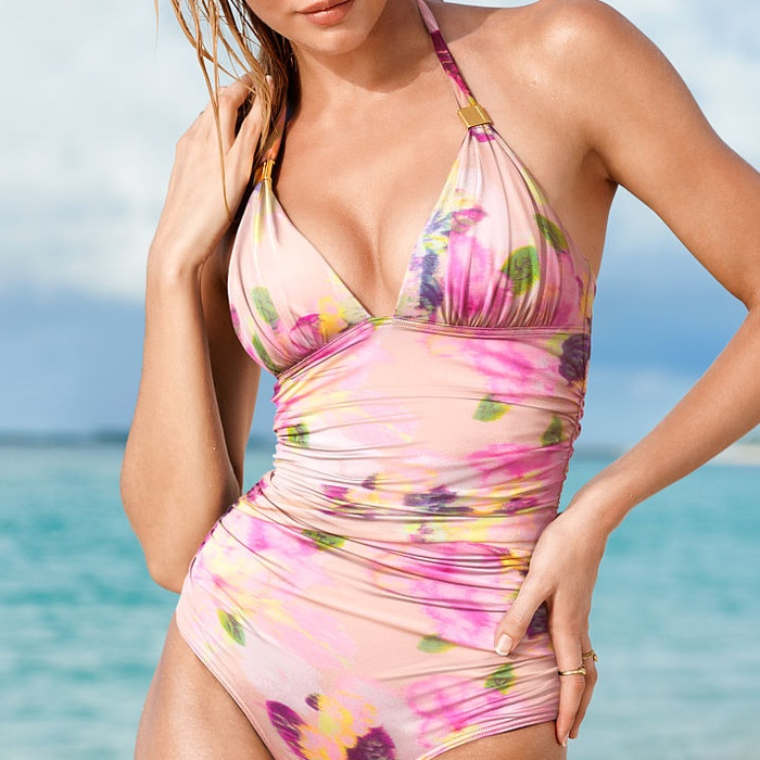 Best One-Piece Patterned Swimsuits - Victoria's Secret The Forever One-Piece in Diffused Floral
