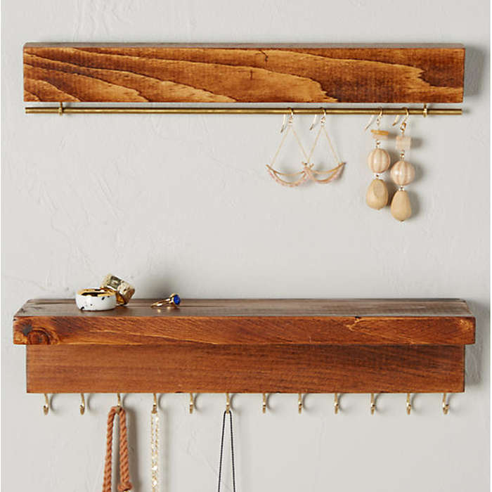Best Closet Organizers - The Knotted Wood Hanging Jewelry Organizer