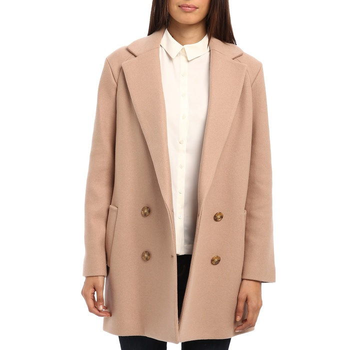 Best Camel Coats - Theory Café Nest Double-Breasted Coat