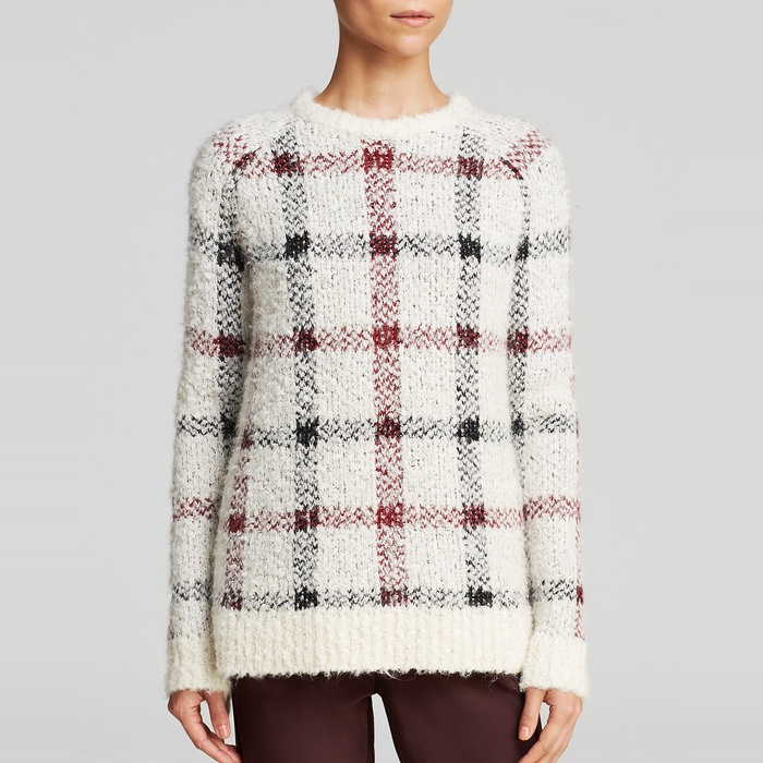 Best Plaid Shirts, Sweaters and Coats - Theory Innis Plaid Loryelle Sweater