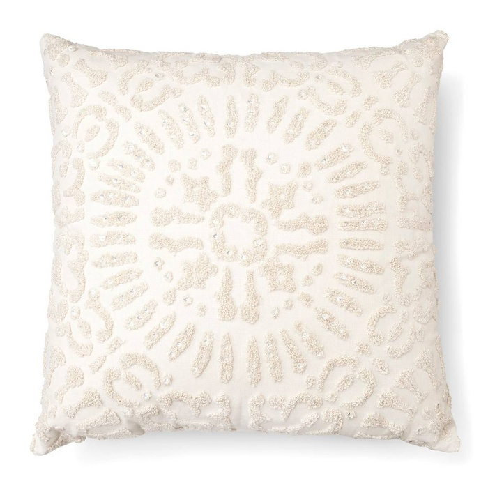 Best Throw Pillows Under $50 - Threshold Embellished Medallion Square Decorative Pillow