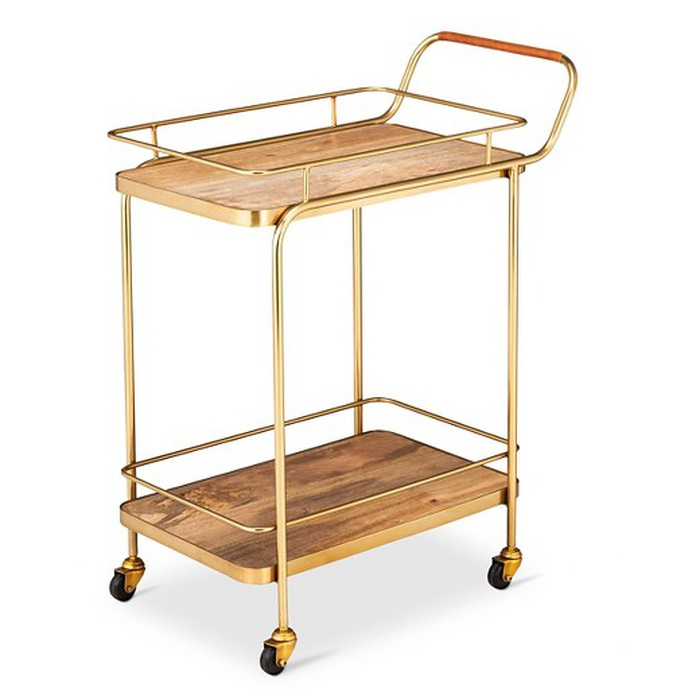 Best Bar Carts Under $200 - Threshold Metal, Wood, and Leather Bar Cart