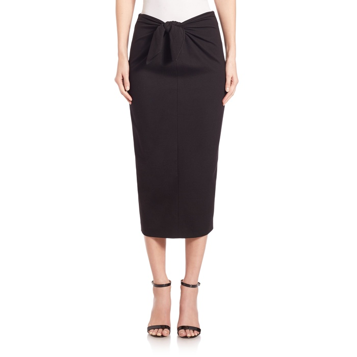 Best Midi Skirts Under $200 - Tibi Bond Stretch Tie Skirt