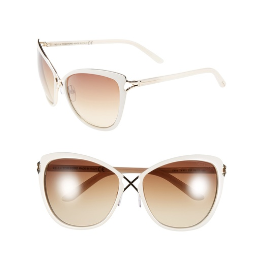 Best Summer White Bests - Tom Ford Celia Cat Eye Sunglasses