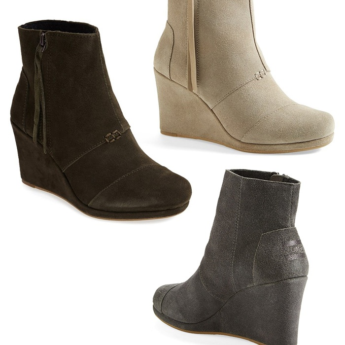 Best Boots made for walking and gifting - TOMS Desert Wedge High Bootie