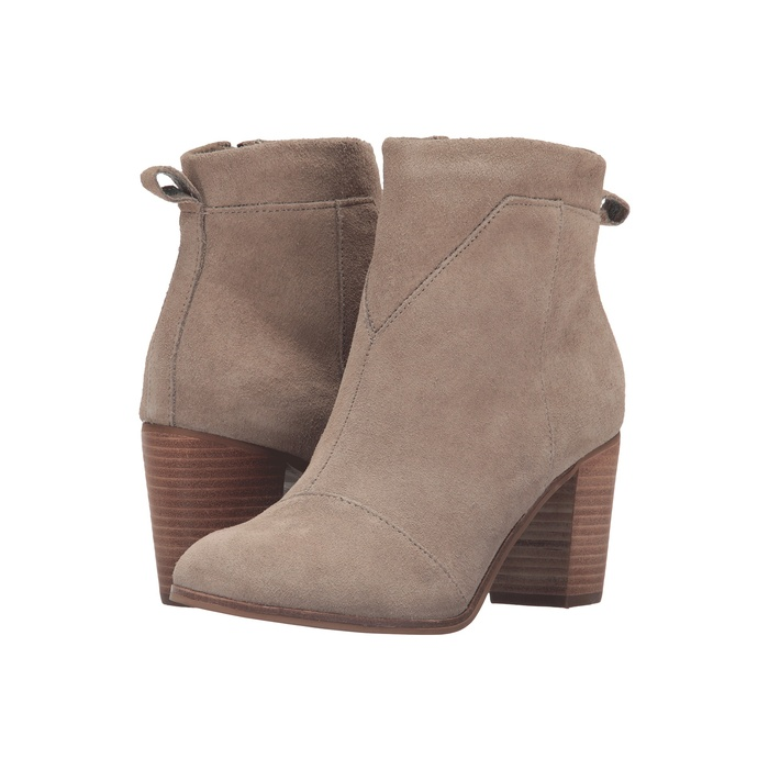 Best Block Heeled Booties Under $150 - Toms Lunata Suede Bootie