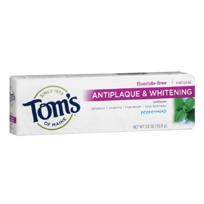 Best Teeth Cleaning & Whitening Products - Tom's of Maine Antiplaque & Whitening Fluroide-Free Natural Toothpaste