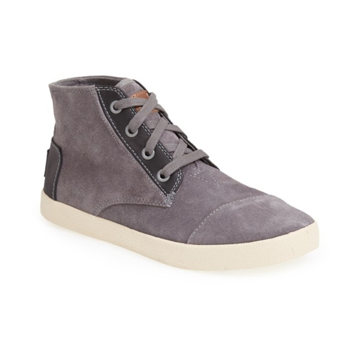 Best Winter High Tops - TOMS 'Paseo - High' Leather Trim Sneaker