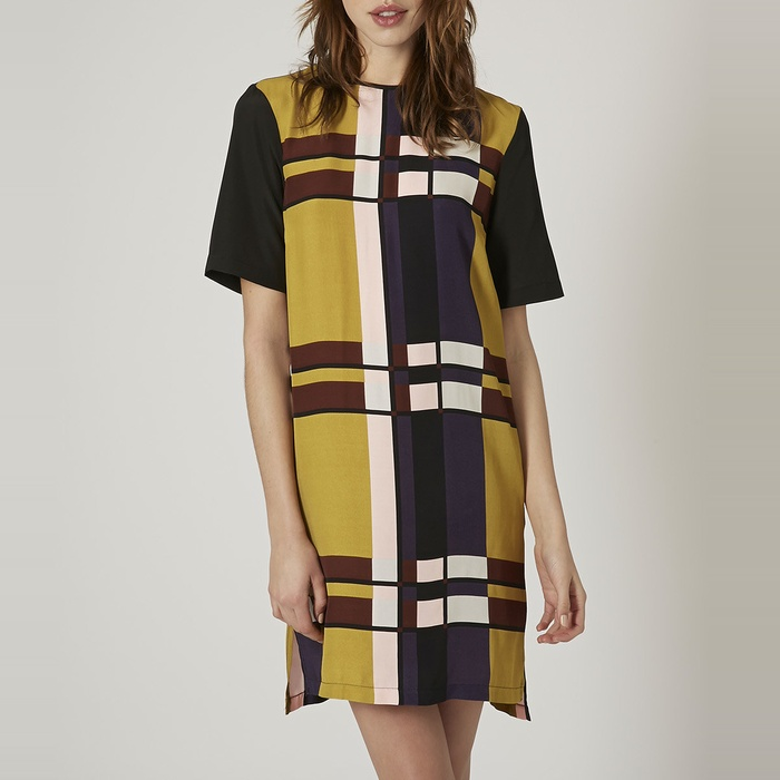Best Printed Dresses Under $100 - Topshop Color-Block Tunic Dress