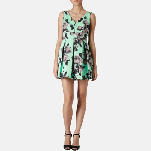 Best Garden Party Dresses - Topshop Floral Print Fit & Flare Dress