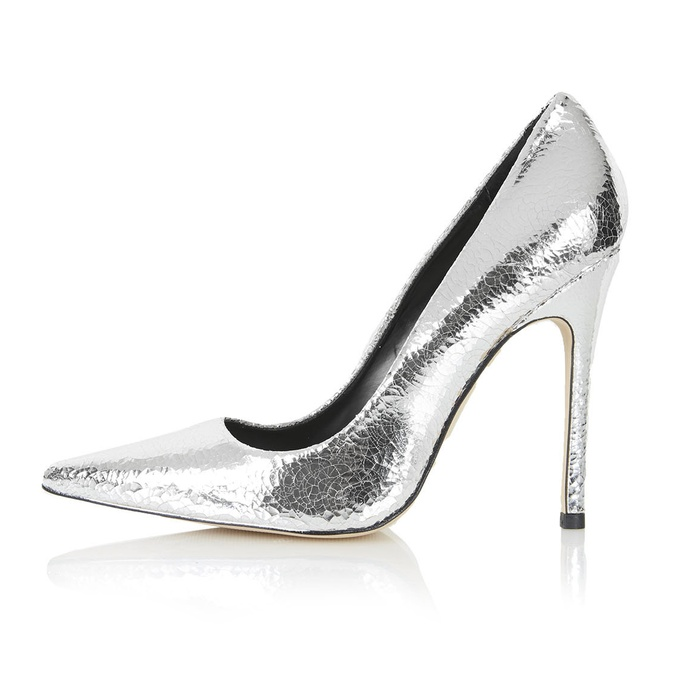 Best Party Pumps Under $200 - Topshop Gallop Metallic Court Shoes
