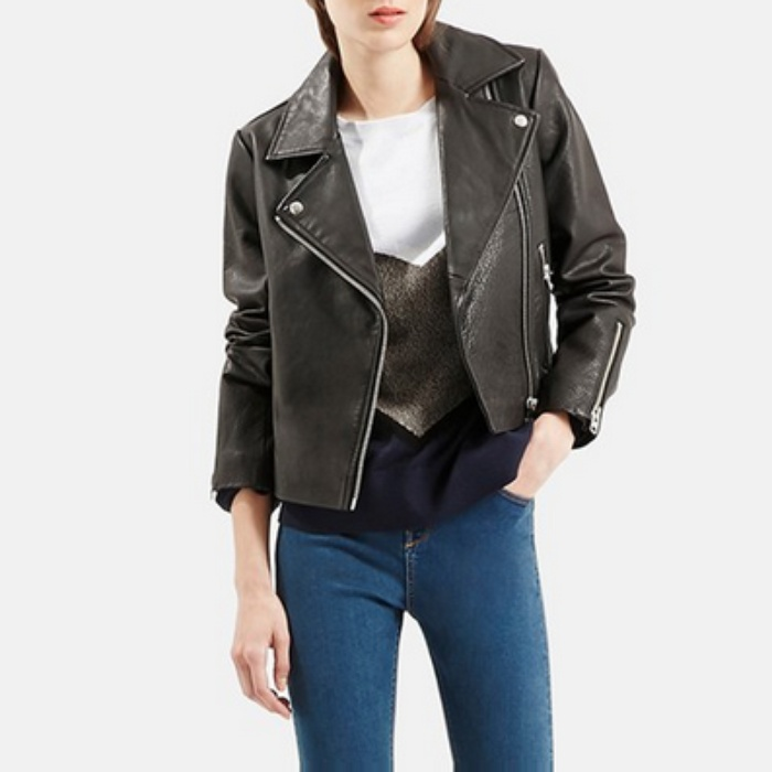 Best Moto Jackets - Topshop Leather Biker Jacket